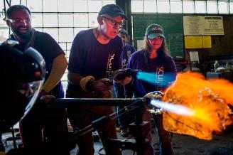Gene Koss Demo at Tulane - Gene at work - Photo by Ryan Rivet-Tulane University